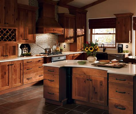 Rustic Kitchen Cabinet Rustic Hickory Kitchen Cabinets Homecrest Cabinetry