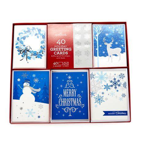 printable christmas cards walmart hallmark blue collection boxed cards walmart exclusive