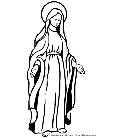 the blessed virgin mary coloring pages
