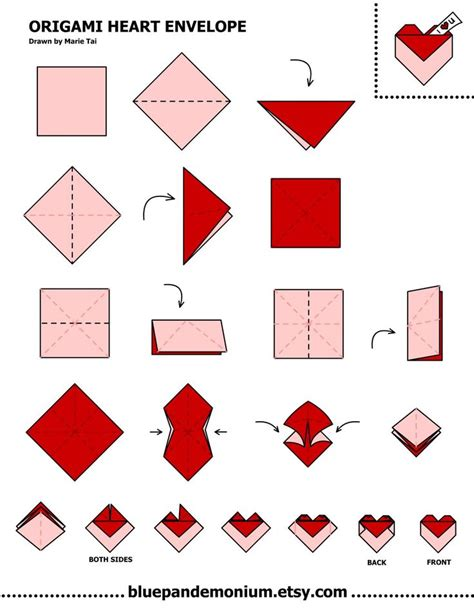 How To Make A Of Paper Into An Envelope - best 25 origami hearts ideas on diy
