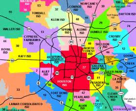 school districts in houston map