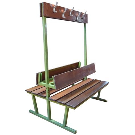 metal coat rack with bench double sided french bench with coat rack