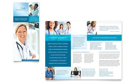 medical billing coding tri fold brochure template word