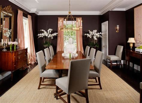 chocolate brown dining room paint color design lines ltd salmon pink eggplant dining room design with salmon pink