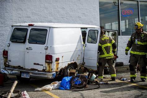 duo helps man  van starts smoking  hitting burton