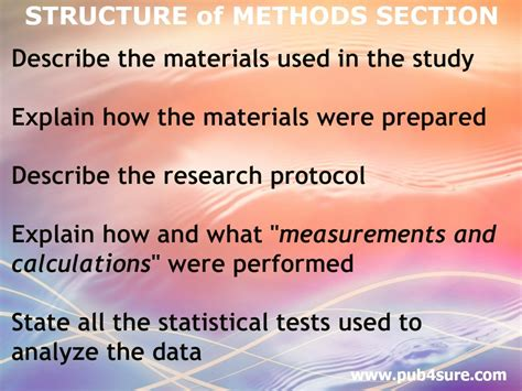 sections of a research article how to write the methods section of a research article