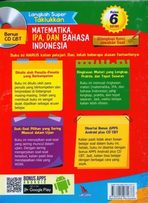 Langkah Taklukkan bukukita langkah taklukkan matematika ipa dan bahasa indonesia kelas 6 sd mi