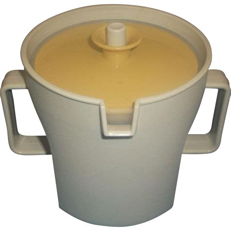 Tupperware Gold tupperware gold and push button lid sugar bowl from hoosiercollectibles on ruby