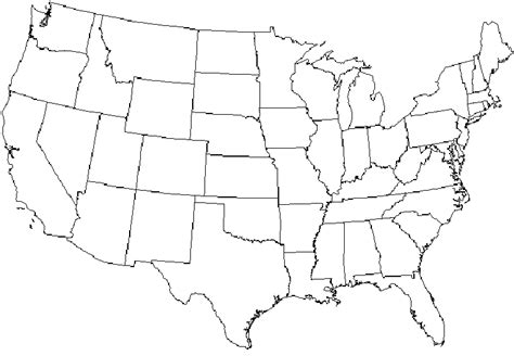 large blank us map large printable blank us map clipart map of us states us