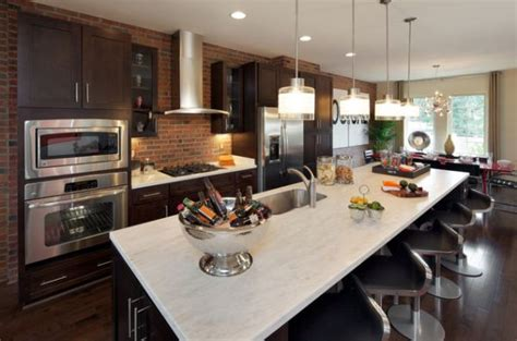 brick feature wall kitchen kitchens design ideas a brick wall always a charming d 233 cor feature in any room