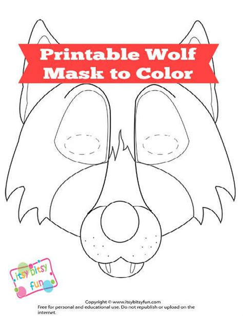 Free Printable Wolf Mask Template Itsy Bitsy Fun Go Away Big Green Coloring Page
