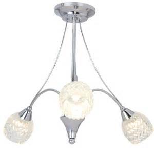glass shade for ceiling light rachael 3 arm glass shade chrome ceiling light