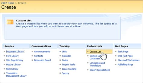 5 Lists To Look by Create A List In Sharepoint Sharepoint