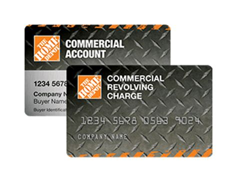 home depot commercial revolving charge sign in insured