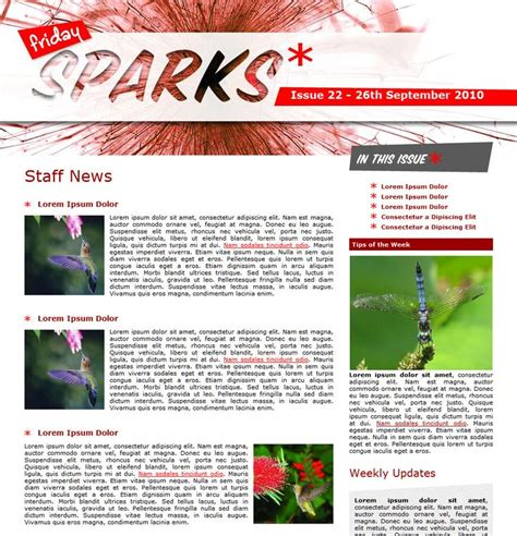 staff newsletter template 9 best staff newsletters images on newsletter