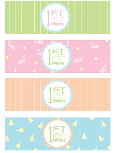 printable theme party decor free happy 1st birthday party printables pizzazzerie