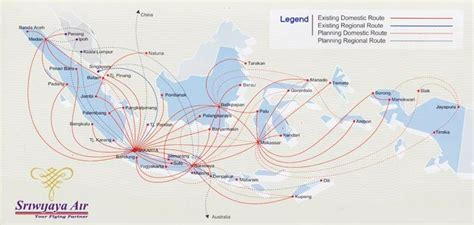 batik air route map sriwijaya air world airline news