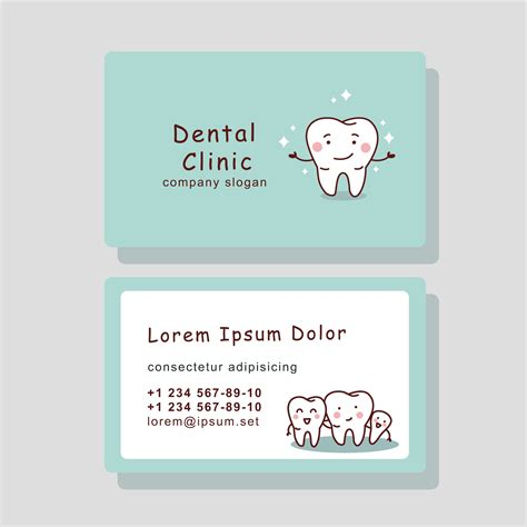 Free Dental Business Card Templates by Dental Business Cards Business Card Tips