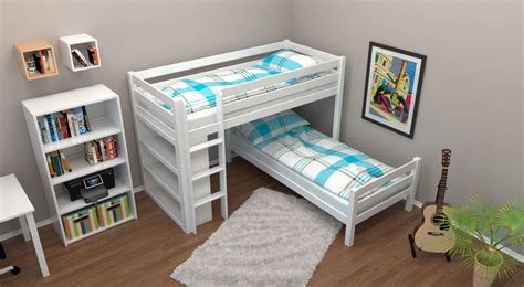 kids bedside l bunk bed children s bed phillip solid beech wood with