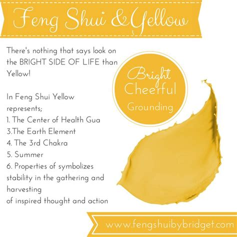 feng shui yellow feng shui and the color yellow fen shui pinterest