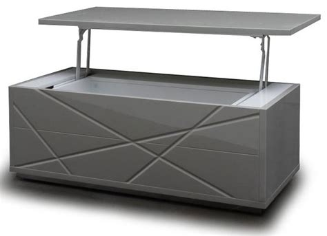 modern gray lift top coffee table with storage kaga