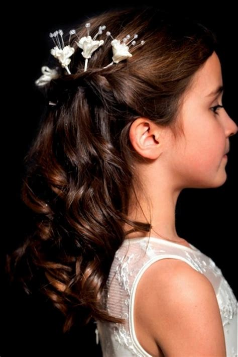 Girl Hairstyles With Long Hair | flower girl hairstyles beautiful hairstyles