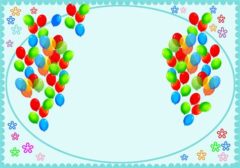 birthday card balloon template happy birthday card for you free printable greeting cards