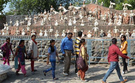 rock garden in chandigarh mosaic sculptures to handcrafted waterfalls chandigarh s