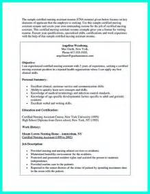 Career Objective For Cna Writing Certified Nursing Assistant Resume Is Simple If