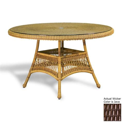 Wicker Table L Shop Tortuga Outdoor 48 In W X 48 In L Wicker Dining Table At Lowes