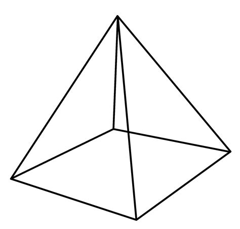 free coloring pages of geometric pyramid