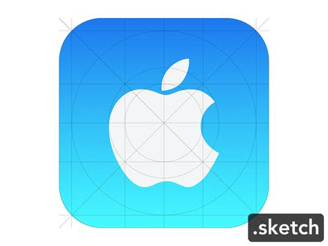 icon design guidelines ios apple icon ios7 guide sketch freebie download free