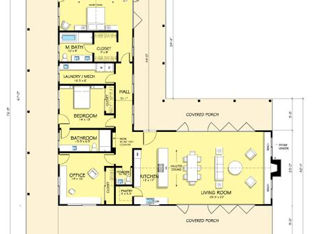 Single Story House Plans Without Garage by L Shaped Range Home Plans L Shaped Ranch House Plans