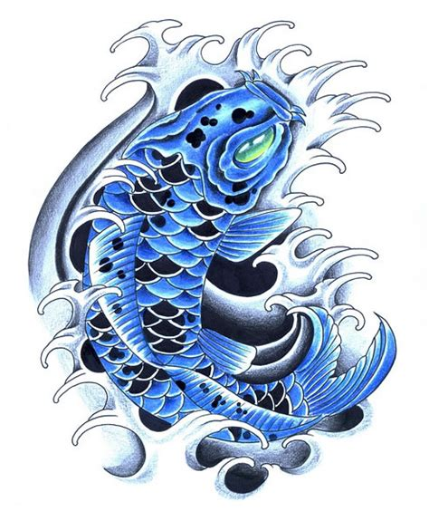 blue koi fish tattoo blue koi tattoos koi fish
