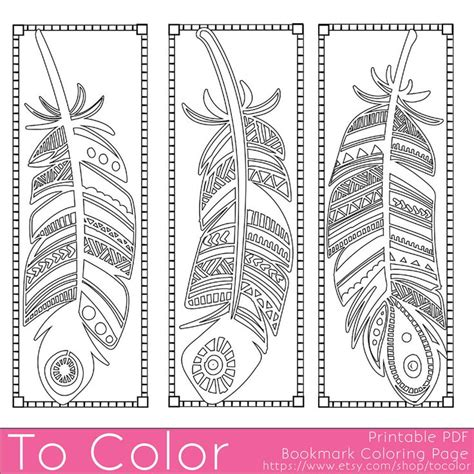 a colored childâ s belly books printable feathers coloring page bookmarks for adults pdf