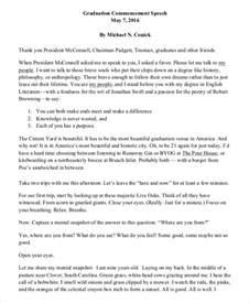 sample graduation speech example 8 documents in word pdf