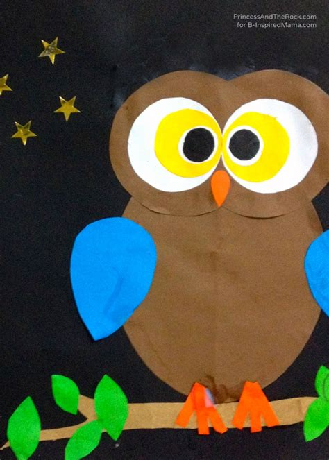 owl craft projects a shape ly owl craft for b inspired