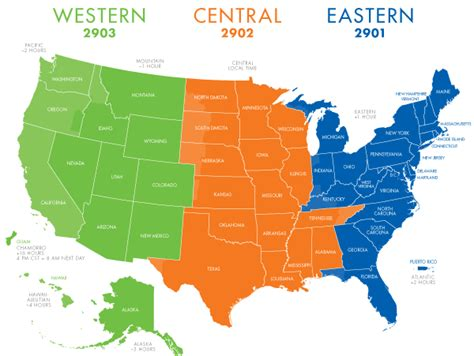 central time map eastern time