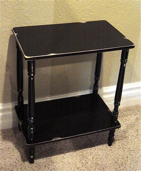 Distressed Nightstand The Backyard Boutique By Five To Nine Furnishings Black