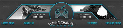 gaming channel youtube banner by triigzdesigns graphicriver
