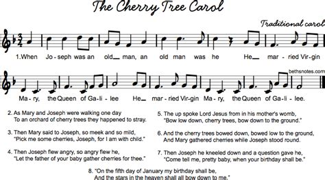 cherry tree carol cherry tree carol beth s notes