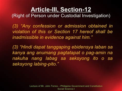bill of rights article 3 section 4 bill of rights lecture 4