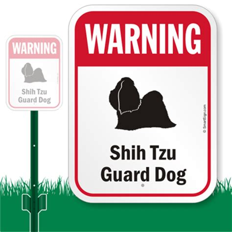 shih tzu guard shih tzu guard lawnboss sign signs by breed sku k 7634 shih tzu