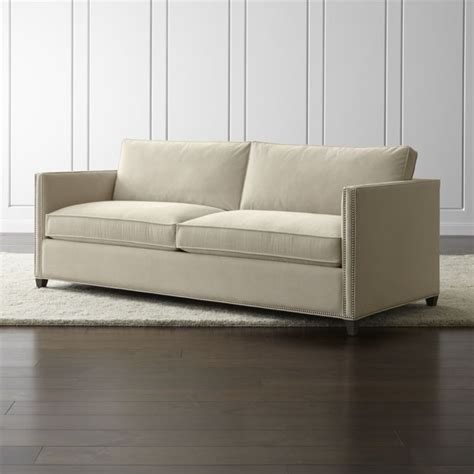 crate and barrel sofa bed dryden velvet sofa with nailheads crate and barrel