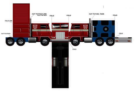 Paper Craft Truck - truck driver worldwide paper truck