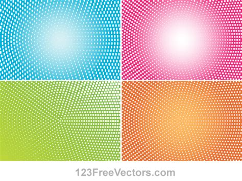 abstract colorful halftone illustrator vector backgrounds