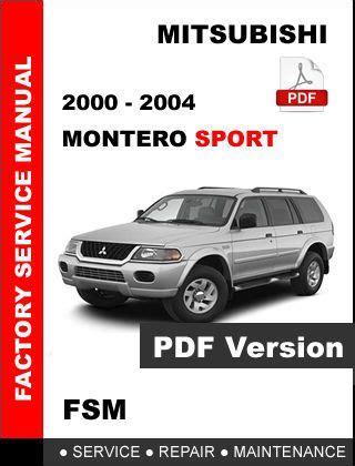 service repair manual free download 2000 mitsubishi montero sport engine control 2000 2001 2002 2003 2004 mitsubishi montero sport factory service repair manual 112691737960