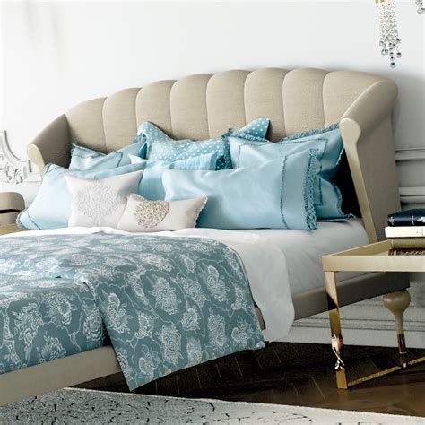 modern upholstered bed modern taupe luxury upholstered bed
