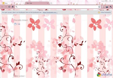 google chrome themes cute pink popular pink chrome themes brand thunder