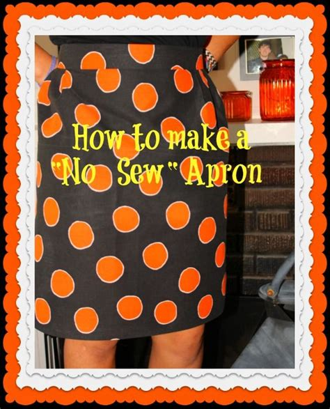one hour craft projects no sew apron witches costume crafts one hour